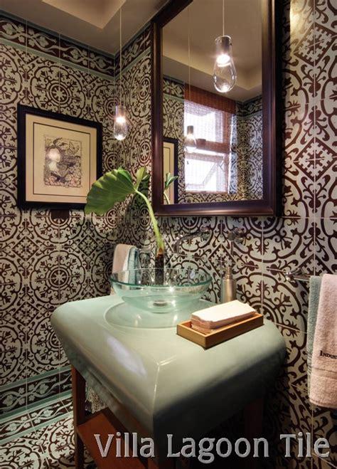 Bathrooms with Cement Tile   Villa Lagoon Tile