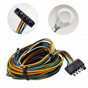 Standard 25 Ft Boat Trailer Wiring Harness  5 Prong
