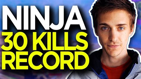 ninja  kills record solo  squads highlights fortnite