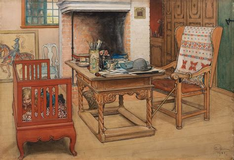 carl larsson peek  boo   watercolour shows