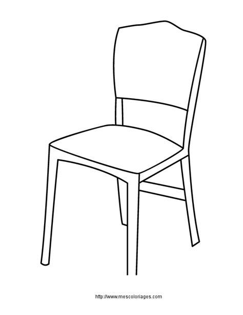 dessin de chaise en perspective coloriage objets de la maison meubles 224 colorier allofamille