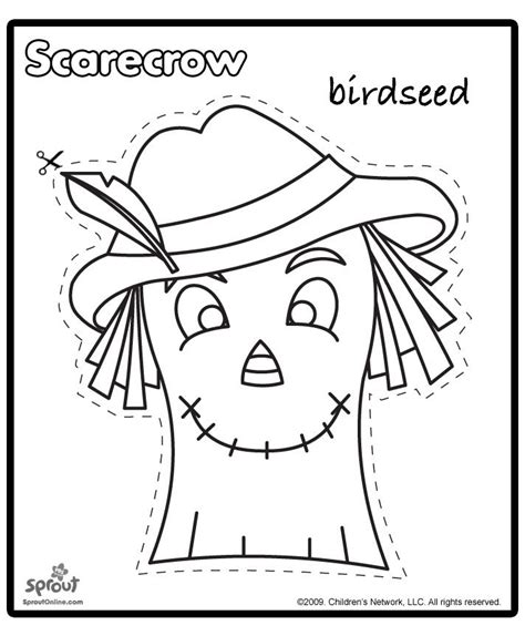 printable scarecrow patterns scarecrow template 202 | d7113e69348355682c88ae0e2396fa81