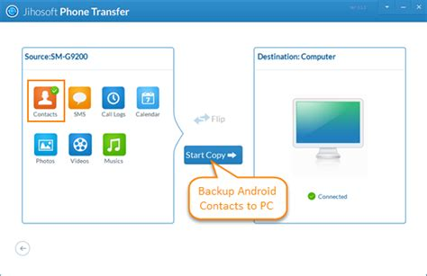 backup contacts android phone transfer backup android