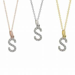 diamond initial necklace 14k real gold s diamond initial With diamond initial letter necklace