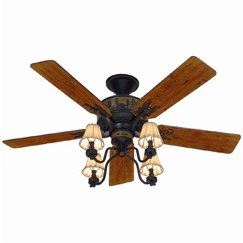 Shop Hunter 52 In Adirondack Bronze Ceiling Fan With Light