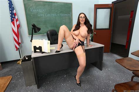 horny teacher angela white fucking on the table milf fox