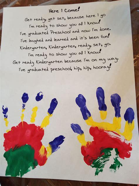 preschool graduation poem and handprints preschool 811 | e0df45c3adb76bb28e79594164baf742