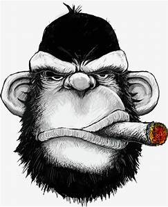 Black Gorilla, Orangutan Avatar, Cigar, Cartoon Gorilla PNG Image and Clipart for Free Download