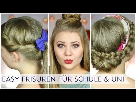 easy alltagsfrisuren fuer schule uni  nivea hairstyles