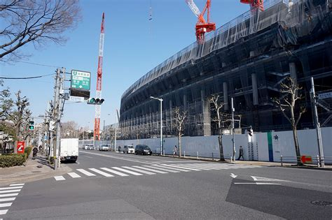 tokyo photo gallery construction national stadium february