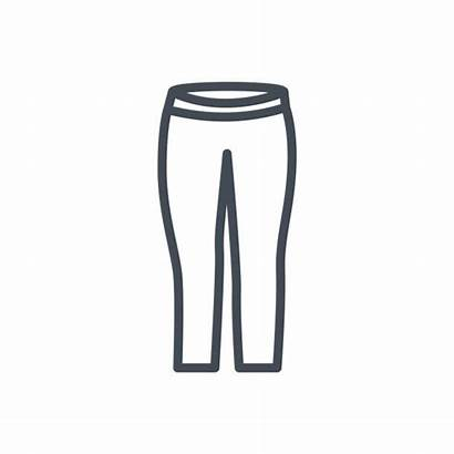 Leggins Clip Pants Yoga Pantaloons Illustrations Line