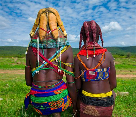 Colorful headpiece culture in Angola