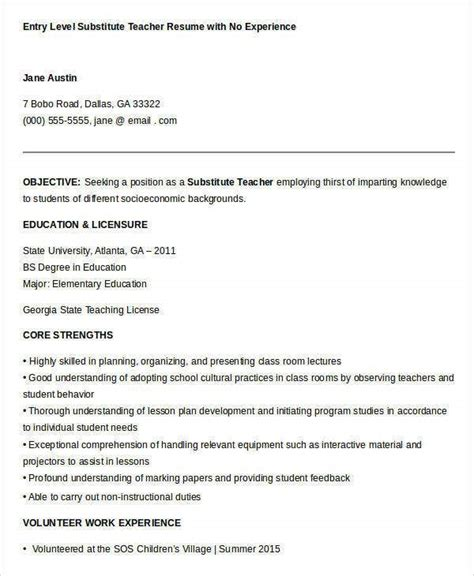 sample resume  teachers  experience