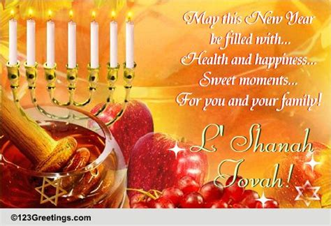 health happiness  rosh hashanah  wishes ecards