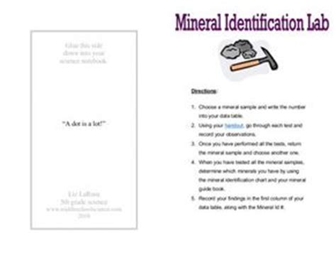 Mineral Identification Lab 6th  8th Grade Worksheet  Lesson Planet