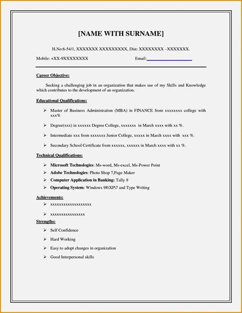 Fill In The Blank Cover Letter Free by Easy Fill In Resume Resume Template Cover Letter