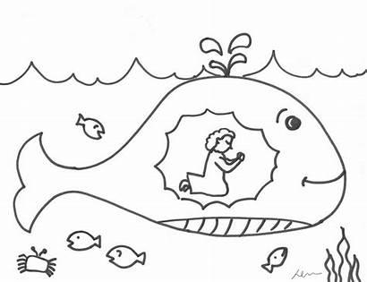 Jonah Whale God Coloring Running Door