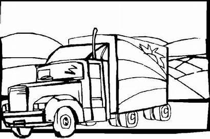 Coloring Semi Truck Trailer Pages Semitrailer Horse