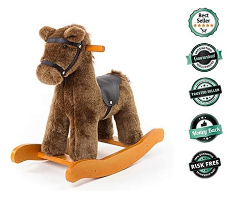 rocking horse toys labebe ride baby years toy ireland amazon toddler second hand horses pony animal wooden knight brown rockers