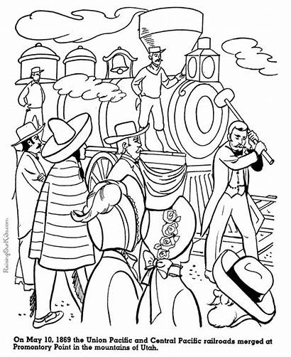 Coloring Pages History American Central Union Railroads