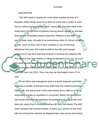 reflective writing  health promotion  nursing clinical essay