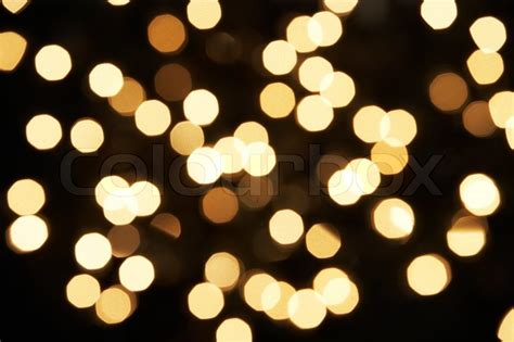 abstract view of white tree lights stock photo