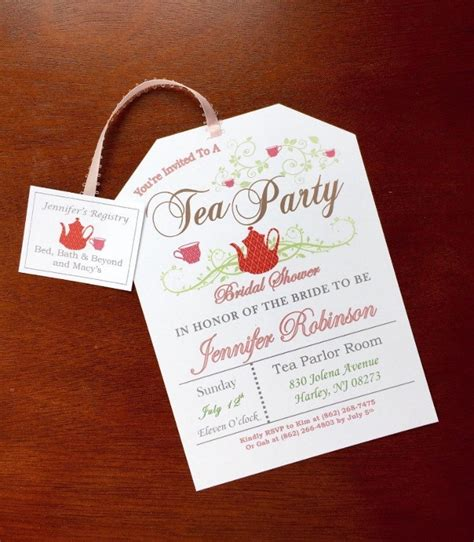 tea party invitation designs word psd ai design