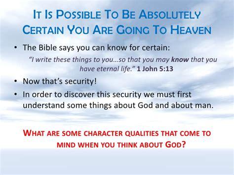 Do You Know For Certain?