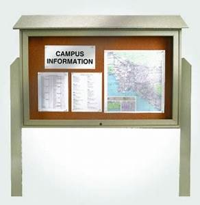 top hinged single door message board mb4 With letter board material