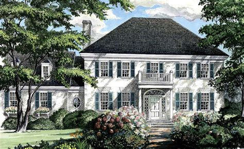 southern colonial home plan wp architectural designs house plans
