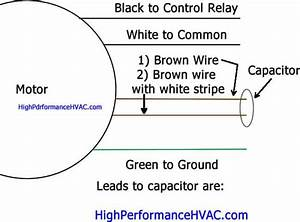 Furnace Blower Motor Capacitor Wiring