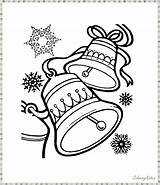 Coloring Bells Pages Christmas Printable Jingle Funny Sheet Children Holiday Shared Hope Nice sketch template