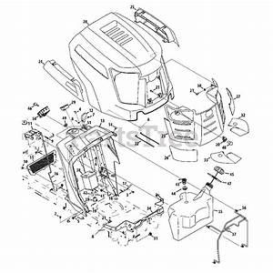 Cub Cadet Parts On The Fuel Tank  Hood  U0026 Dash Diagram For