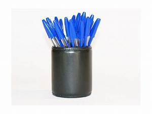 Pot A Crayon : pot a crayons en cuir noir pc700 petite maroquinerie ~ Teatrodelosmanantiales.com Idées de Décoration