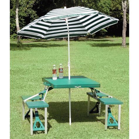 folding picnic table with umbrella texsport folding picnic table with umbrella 204847