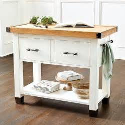 farmhouse butcher block kitchen island dining room