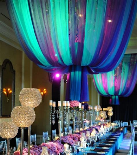 purple and turquoise wedding decor for summer