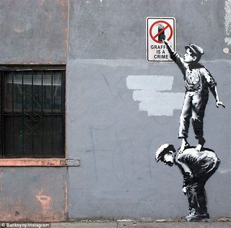 Banksy starts new NYC street exhibition... but first two ...