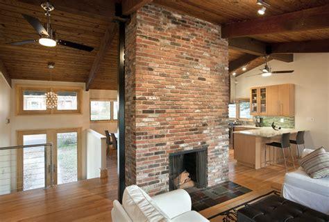 fireplace   center contemporary living room dc
