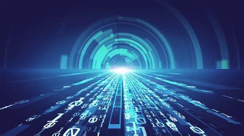 digital technology background binary tunnel effect motion