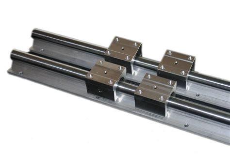 set  sbr mm supported linear rail shaft rod  sbruu linear blocks  linear guides