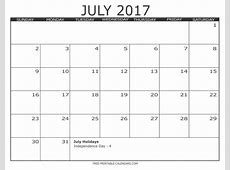 2017 Free Printable Calendars Free Printable Calendars