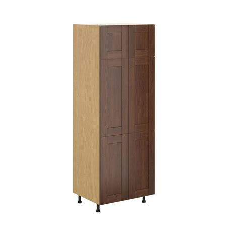 fabritec ready to assemble 30x83 5x24 5 in lyon pantry cabinet in maple melamine and door in