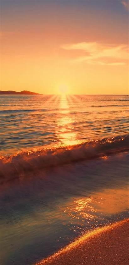 Sunset Beach 4k Wallpapers Sea Sunlight Exposure