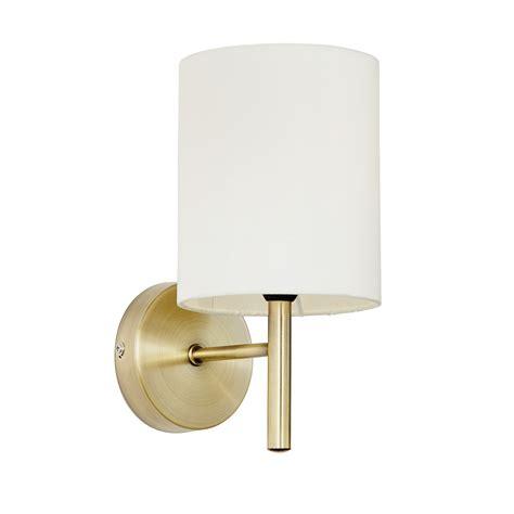 endon brio 1lt wall light 40w antique brass effect plate