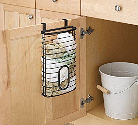 mdesign   cabinet kitchen storage holder  plastic  garbage bags kitchen