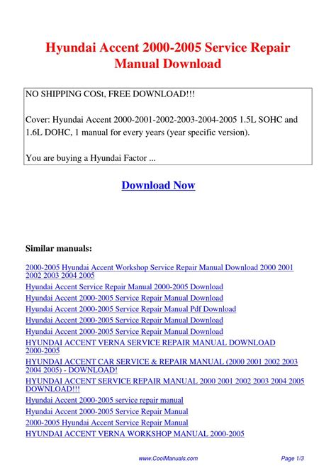 download car manuals pdf free 1995 hyundai accent electronic toll collection hyundai accent 2000 2005 service repair manual pdf by linda pong issuu