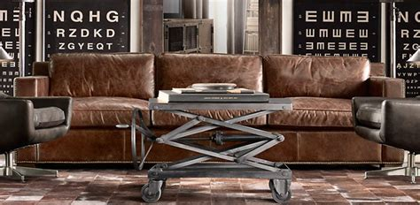 restoration leather sofa rooms