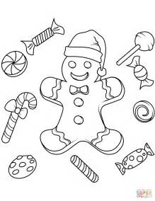 gingerbread color gingerbread coloring page free printable