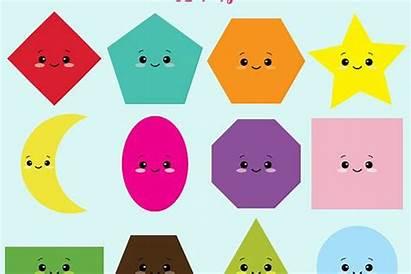 Shapes Clipart Kawaii Cliparts Designer Fantasy Similar